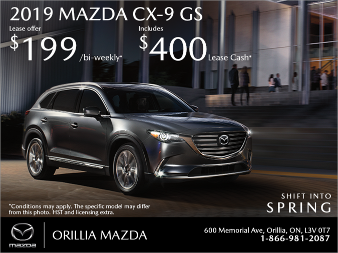 Orillia Mazda - Get the 2019 Mazda CX-9 Today!