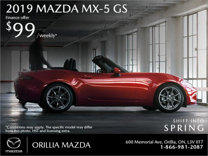 Orillia Mazda - Get the 2019 Mazda MX-5 Today!