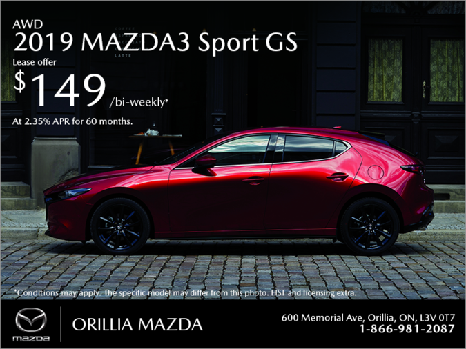 Orillia Mazda - Get the 2019 Mazda3 Sport Today!