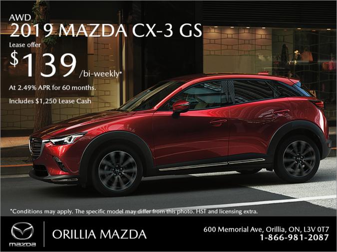 Orillia Mazda - Get the 2019 Mazda CX-3 Today!