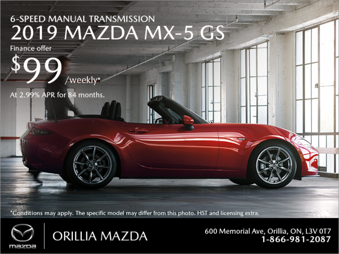 Orillia Mazda - Get the 2019 Mazda MX-5 Today!