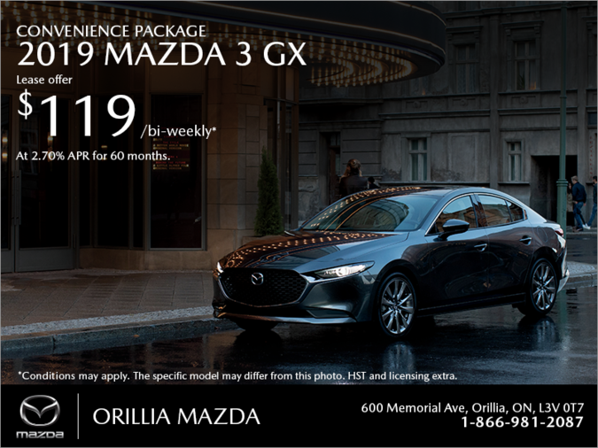Orillia Mazda - Get the 2019 Mazda3 Today!