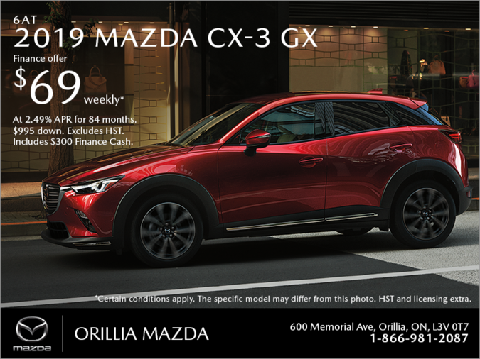 Orillia Mazda - Get the 2019 Mazda CX-3 Today!