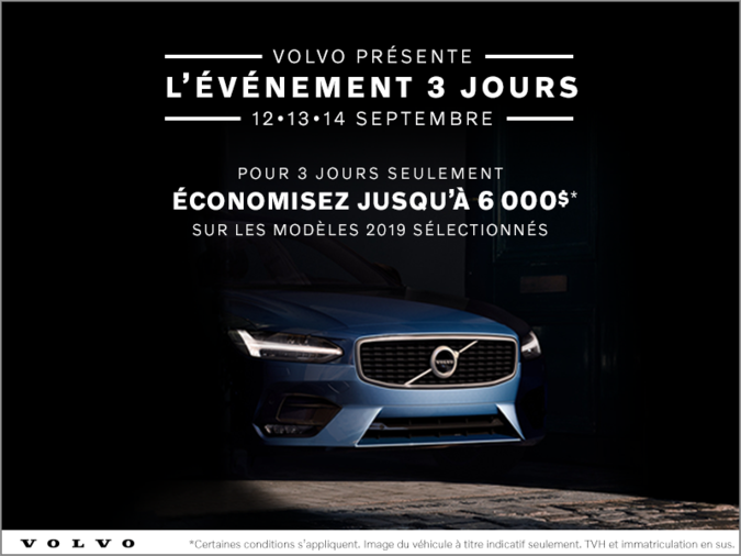 L'événement Volvo de 3 jours