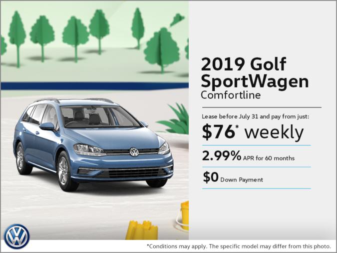 Get the 2019 Golf SportWagen!