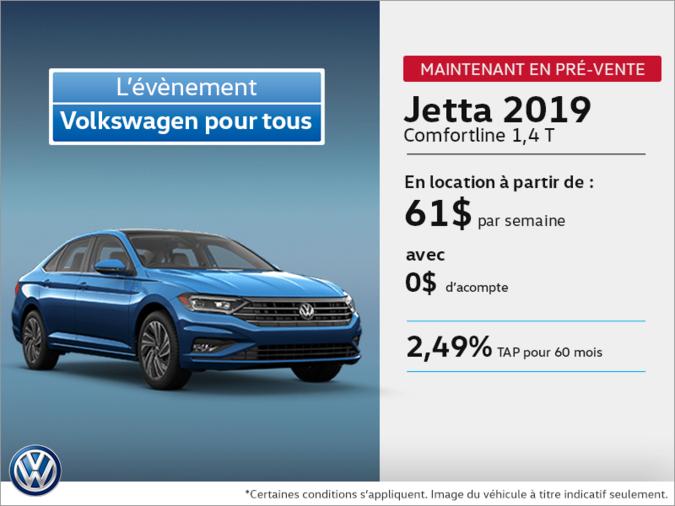 Obtenez la Jetta 2019 dès aujourd'hui!