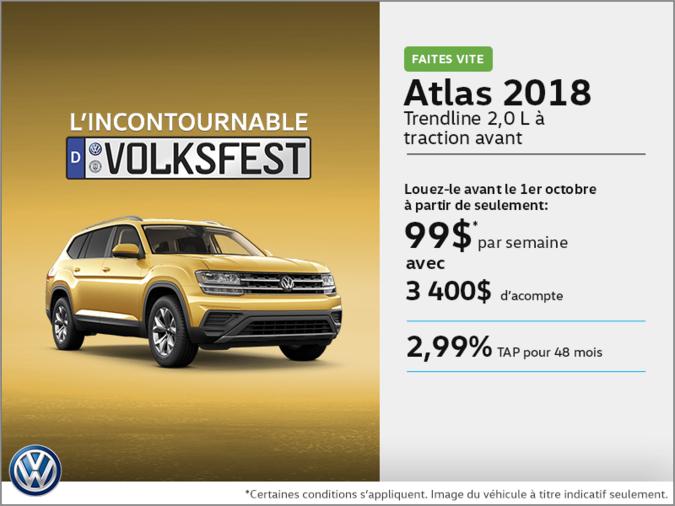 Louez le Atlas 2018!
