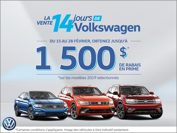 La vente 14 jours de Volkswagen!