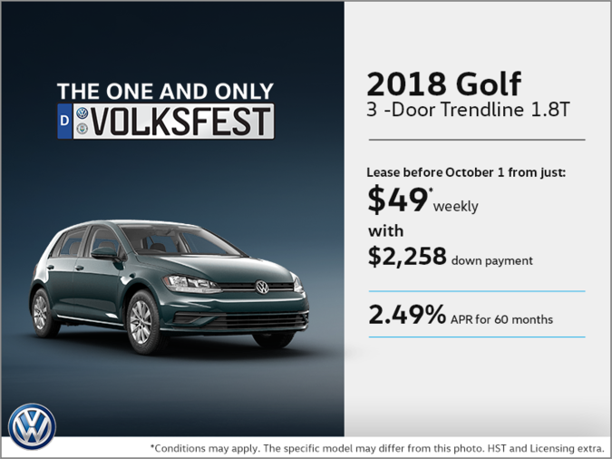Get the 2018 Golf 3-Door Today!
