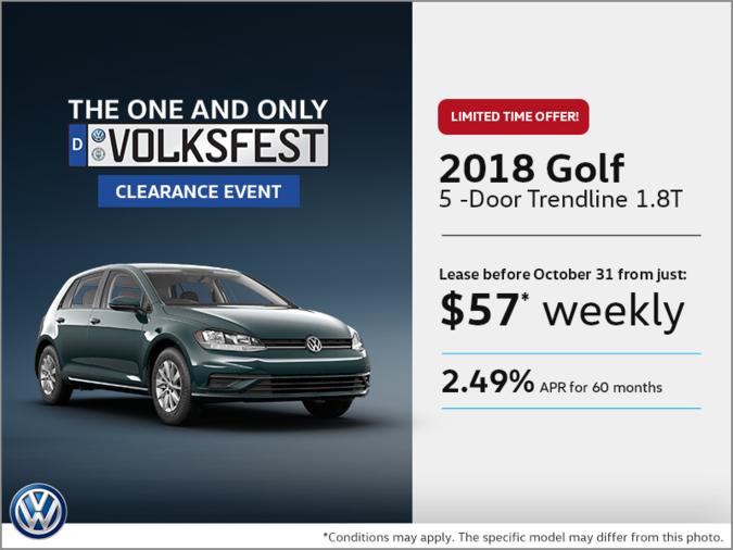 Get the 2018 Golf 5-Door Today!
