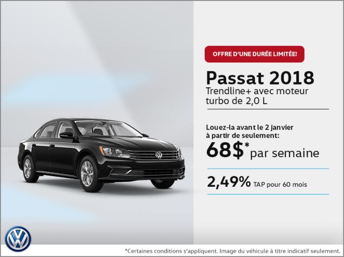Conduisez la Passat 2018 dès aujourd'hui!