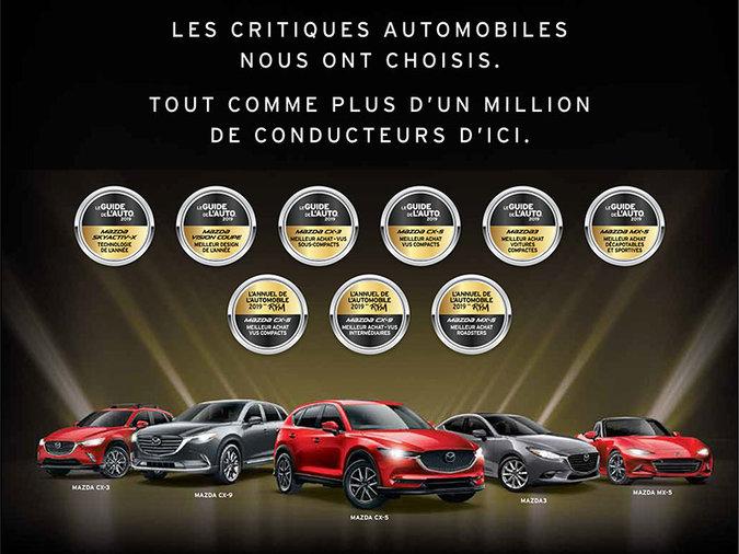 La gamme de véhicule la plus primée au Québec