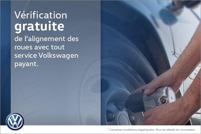 Vérification gratuite de l'alignement des roues