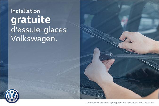 Installation gratuite d'essuie-glaces Volkswagen
