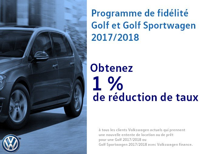 Programme de fidélité Golf et Golf Sporwagen 2017/2018