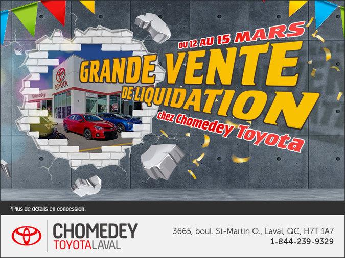 Grande vente de liquidation chez Chomedey Toyota