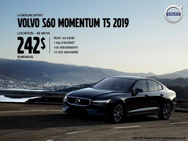 Rabais Volvo S60 - Mai 2019