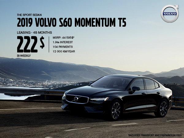 Volvo S60 Promotion - September 2019