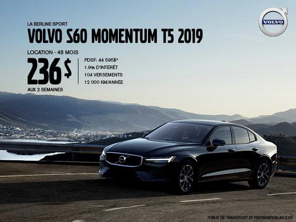 Rabais Volvo S60 - Août 2019