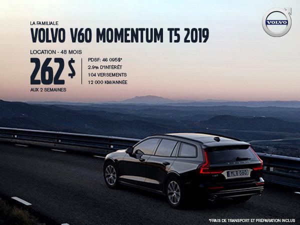 Rabais Volvo V60 - Juillet 2019