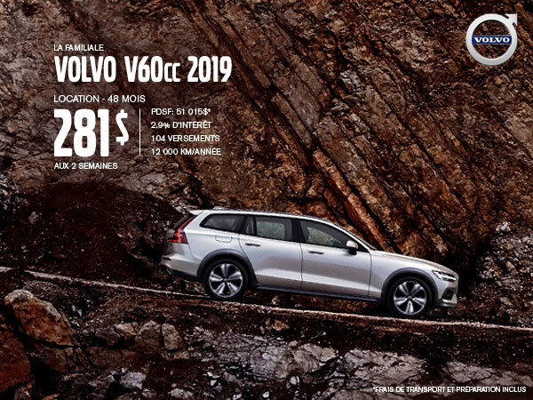 Rabais Volvo V60 Cross Country - Juillet 2019