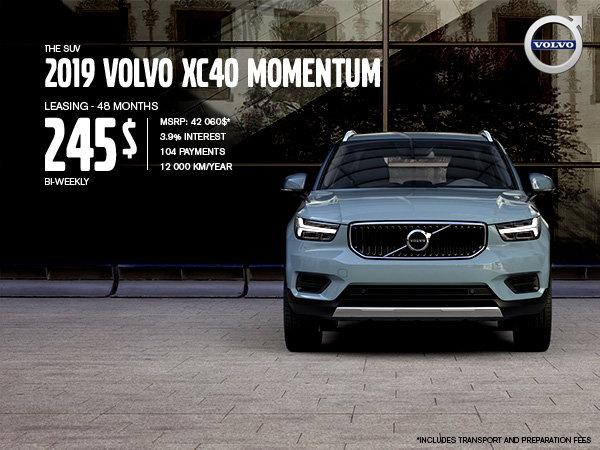 Volvo XC40 Promotion - September 2019