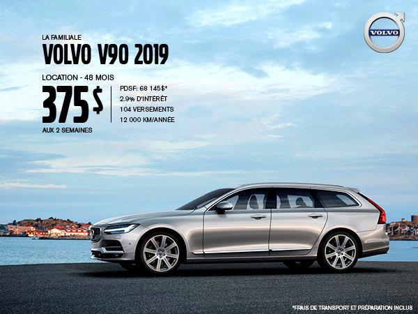 Rabais Volvo V90 - Août 2019