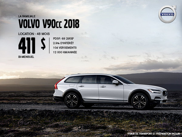 Rabais Volvo V90 Cross Country - Juillet 2019