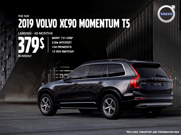 Volvo XC90 Promotion - May 2019