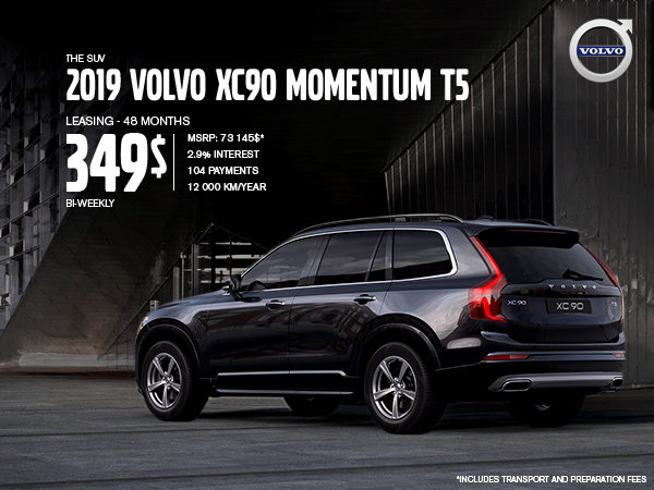 Volvo XC90 Promotion - August 2019