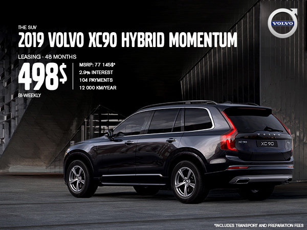 Volvo XC90 hybrid Promotion - May 2019