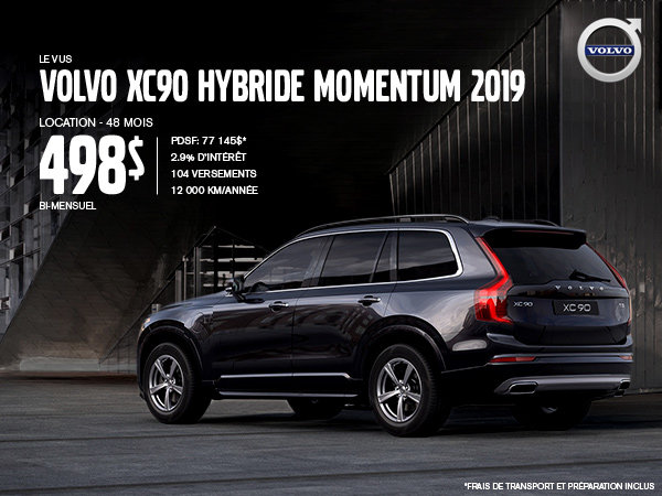 Rabais Volvo XC90 hybride - Mai 2019