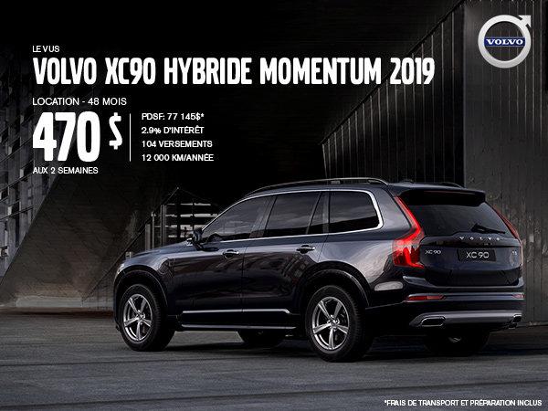 Rabais Volvo XC90 hybride - Août 2019