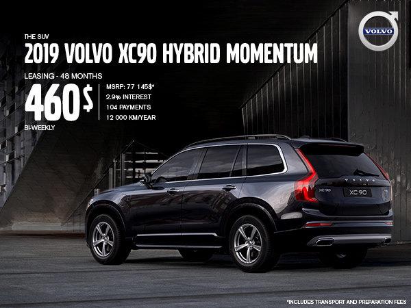 Volvo XC90 hybrid Promotion - September 2019