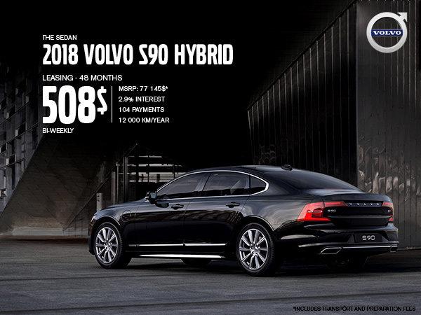 Volvo S90 hybrid promotion - July 2019