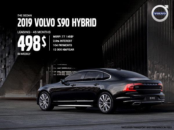 Volvo S90 hybrid promotion - September 2019