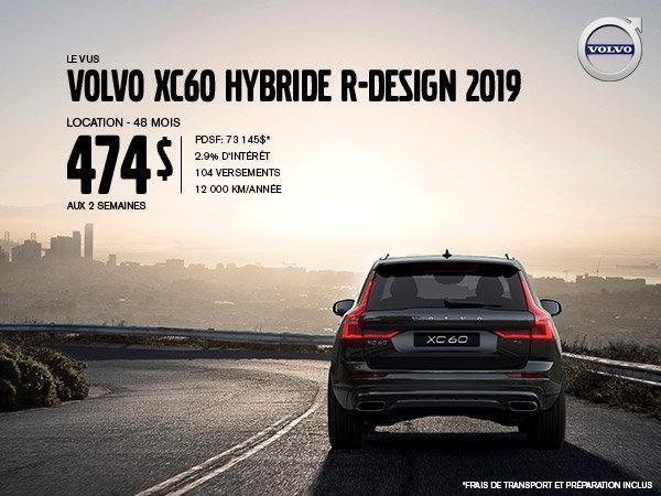 Rabais Volvo XC60 hybride - Juillet 2019