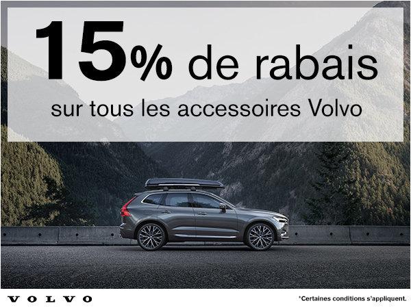 15% de rabais sur tous les accessoires Volvo