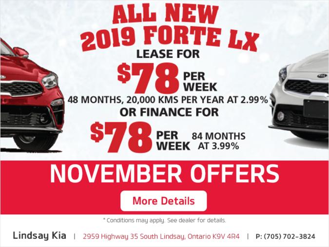 2019 Kia Forte LX 0ffer