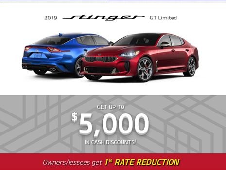 Kia Stinger offer
