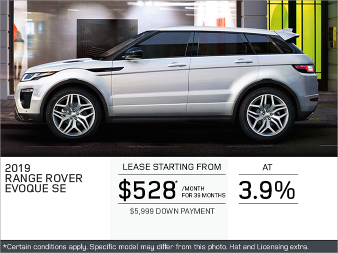 The 2019 Range Rover Evoque SE