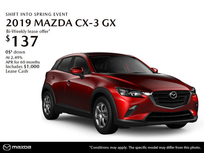 GET THE 2019 MAZDA CX-3 GX TODAY!