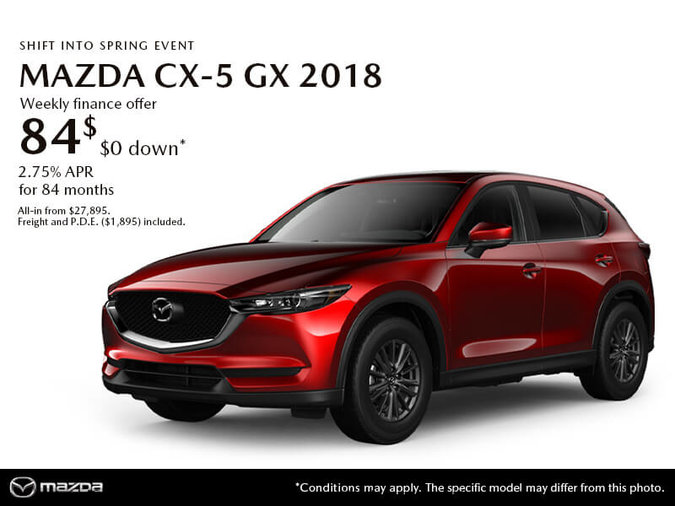 GET THE 2018 MAZDA CX-5 GX TODAY!
