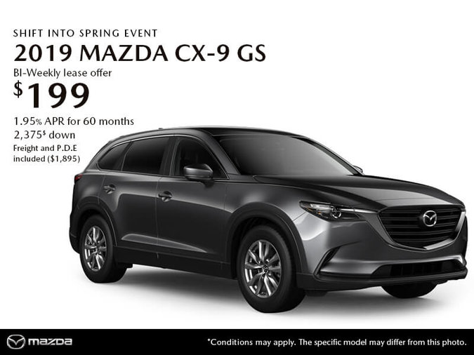 GET THE 2019 MAZDA CX-9 GS TODAY!