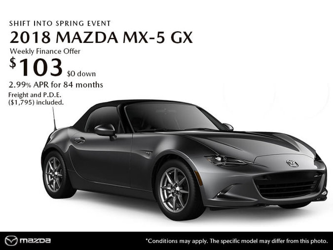 GET THE 2018 MAZDA MX-5 GX TODAY!