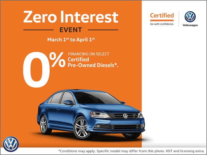 Zero Interest Event!