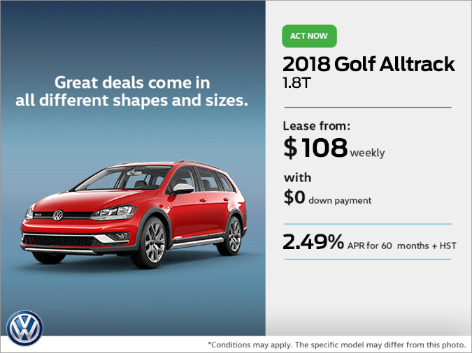 Get the 2018 Golf Alltrack Today