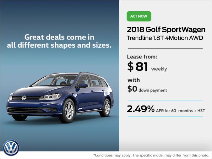 Get the 2018 Golf SportWagen Today