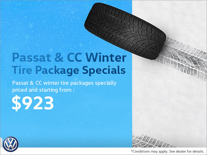 Passat & CC Winter Tire Package Specials