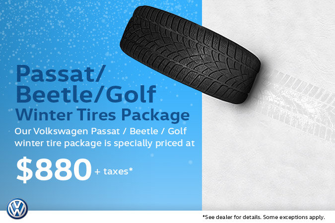 Winter Tire Special - Volkswagen Passat, Beetle or Golf Alltrack Package